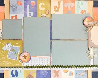 Never Lose Your Sense of Wonder 2 page Scrapbooking Layout Kit or Pre Made Pages