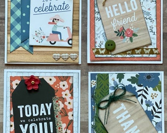 Celebrating You Themed Greeting Card DIY Kit Set - 4 pack