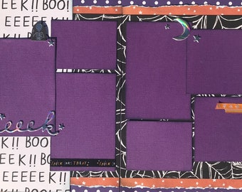 Happy Halloween - Trick or Treat 2 Page Scrapbooking Layout Kit or Premade Scrapbooking Pages