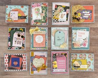 Thank You Themed Grande DIY Card Kit- 12 pack