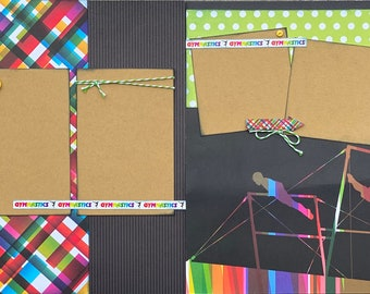 Forever a Gymnast 2 Page Scrapbooking Layout Kit or Premade Scrapbooking Pages