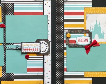 Do You Believe In Magic - Where There is Goodness, There is Kindness, Disney Inspired 2 page Scrapbooking layout Kit or  Scrapbooking DIY