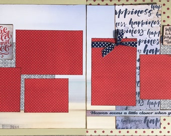 Be Wild and Free - Summer Theme 2 Page Scrapbooking Layout Kit or Premade Scrapbooking Pages