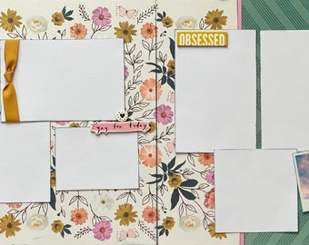 Here Comes the Fun - Shine On!  Obsessed!  2 page Scrapbooking Layout Kit or Premade Scrapbooking Pages