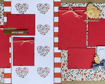 Go, Seek, Explore, Wander 2 page Scrapbooking Layout Kit or Premade Scrapbooking Pages DIY Family craft