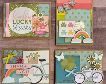 March / Spring General Themed Card Kit- 4 pack