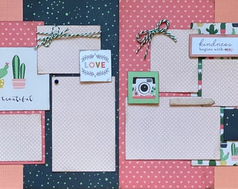 Strong and Beautiful, So Loved  2 page Scrapbooking Layout Kit or Premade Scrapbooking Pages, DIY scrapbooking kit,