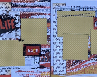Mud Life - Off Roading 2 page Scrapbooking layout kit or Premade Scrapbooking Pages