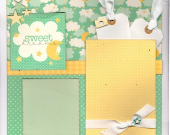 Sweet Dreams Baby , 2 Page Scrapbooking Layout Kit