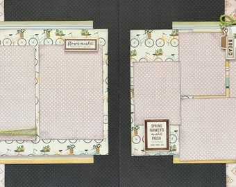 Farmer's Market - Spring 2 Page Scrapbooking Layout Kit or Premade Scrapbooking Pages
