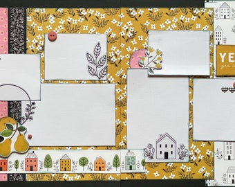 Yes You Can - New House  2 Page Scrapbooking Layout Kit, family scrapbooking diy craft kit