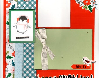 Happy Snow Day - Winter 2 Page Scrapbooking layout Kit