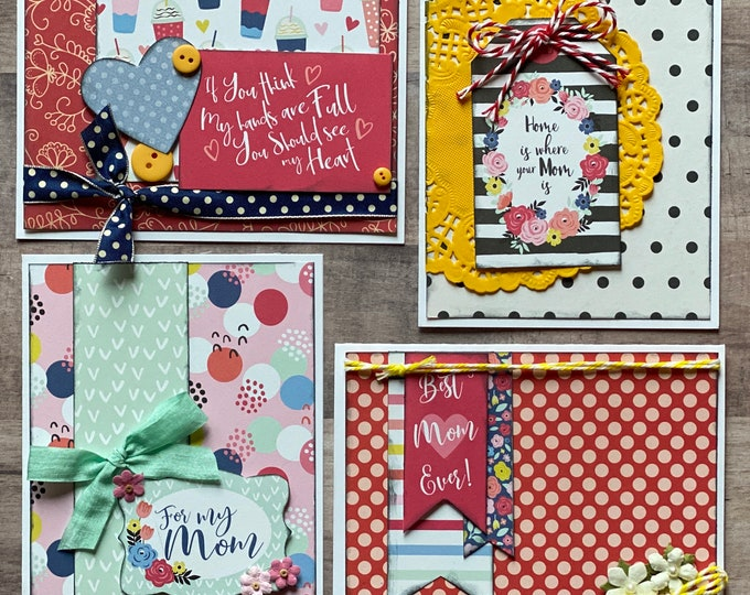 Featured listing image: Best Mom Ever - Mother's Day Themed Greeting Card DIY Kit Set - 4 pack, DIY Card Craft kit, DIY Mother's Day Craft, craft kit
