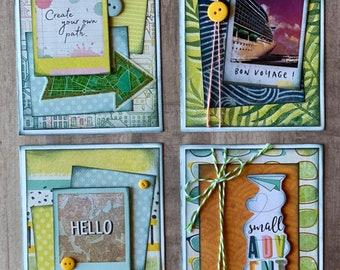 Lets Wander - Vicki Boutin Themed Greeting Card DIY Kit Set #2 - 4 pack