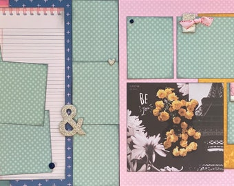Count Your Lucky Stars - Be You, Kindness is Magic 2 page Scrapbooking Layout Kit or Premade Scrapbooking Pages