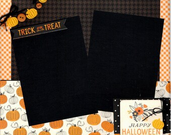 Happy Halloween - Trick or Treat **Single** Page Scrapbooking Layout Kit