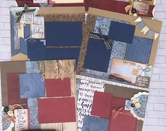 Top Shelf Kit Club July- 3 - 2 Page Scrapbooking Layout Kits - Penelope Dee Summer