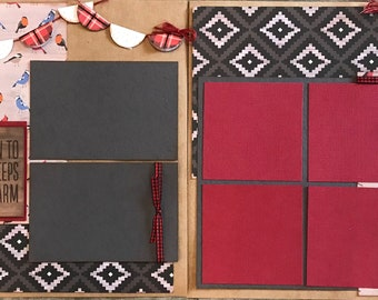 Hold on to What Keeps you Warm- It's Good to be Home 2 Page Scrapbooking Layout Kit or preassembled pages