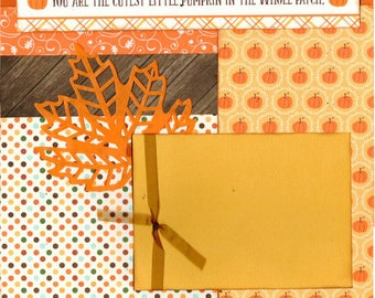 You are the Cutest Little Pumpkin in the Whole Patch  2 Page Scrapbooking Layout Kit
