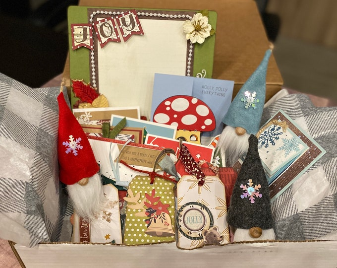 Featured listing image: DIY Holiday Craft Box - 5 DIY Project kits in one box!  DIY Holiday Craft Kits