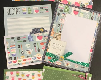 Lets Get Cooking  November  - 3 - 2 Page Scrapbooking Layout Kits