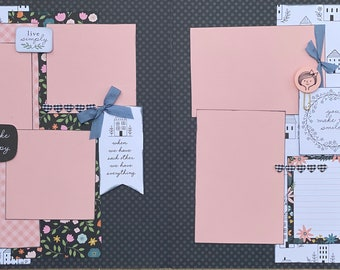 When We Have Each Other, We Have Everything  2 Page Scrapbooking Layout Kit or Premade Scrapbooking Pages DIY Family Craft