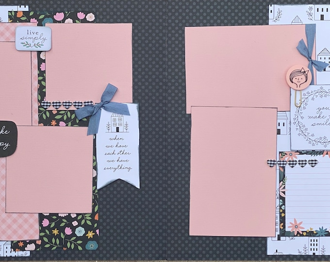 Featured listing image: When We Have Each Other, We Have Everything  2 Page Scrapbooking Layout Kit or Premade Scrapbooking Pages DIY Family Craft