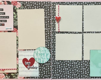 To Love Someone is to See Their Magic... 2 Page Scrapbooking Layout Kit or Premade Scrapbooking Pages