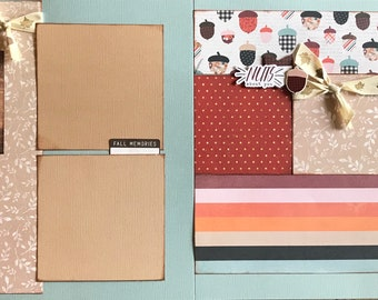 Autumn,  Pumpkin Spice and Everything Nice 2 Page Scrapbooking Layout Kit or Pre Made Scrapbooking Pages
