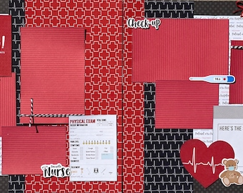 Ouch - Sometimes Life Just Hurts 2 Page Scrapbooking Layout Kit or Pre Made Scrapbooking Pages