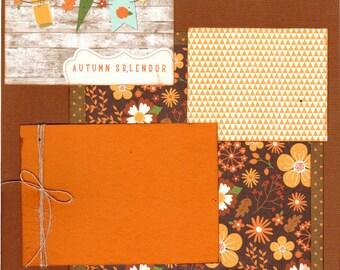 Autumn Splendor 2 Page Scrapbooking Layout Kit