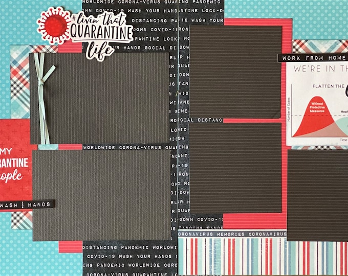 Featured listing image: Quarantine Life -  2 Page Scrapbooking layout KIt