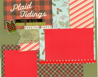 Plaid Tidings to all, 2 Page Scrapbooking Layout Kit