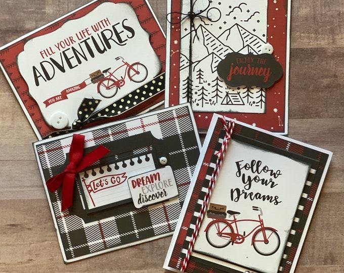 Featured listing image: Enjoy The Journey  Themed Greeting Card DIY Kit Set, DIY Card Kit, Graduation Card Set, General DIY Card Craft kit