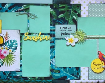 You Can Never Have Too Much Paradise   2 page Scrapbooking layout kit or Premade Scrapbooking Pages