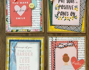 Encouragement Themed Greeting Card DIY Kit Set #2 - 4 pack