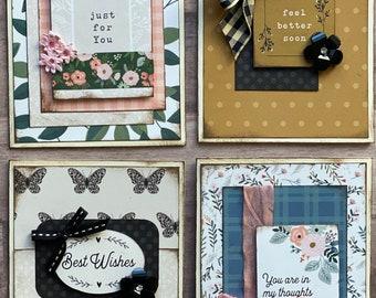 Best Wishes General Themed Card Kit- 4 pack DIY feel better soon Card Making Kit Diy general diy craft