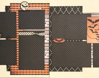 Spooky Cute - Bootiful 2 Page Scrapbooking Layout Kit or Premade Scrapbooking Pages