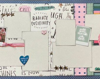Difficult Roads Lead to Beautiful Destinations 2 page Scrapbooking Layout Kit or Premade Scrapbooking Pages