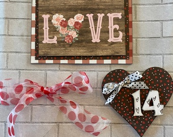 LOVE - February Monthly Foundations Decor Welcome Sign Magnetic Interchangeable Pieces