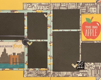 The City That Never Sleeps - New York 2 page Scrapbooking layout kit or Premade Scrapbooking Pages New York DIY kit