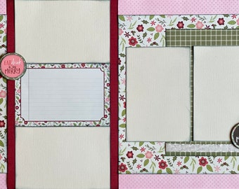 Eat, Drink and Be Merry - Christmas 2 Page Scrapbooking Layout Kit or Premade Scrapbooking Pages