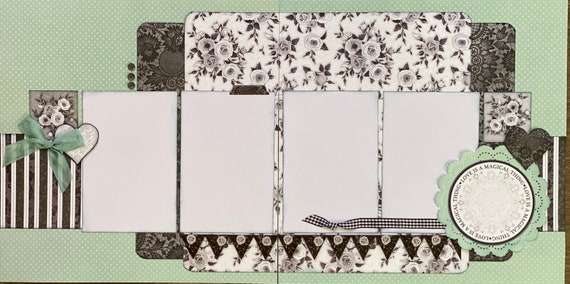 Love is a Magical Thing 2 Page Scrapbooking Layout Kit or Premade Scrapbooking Pages