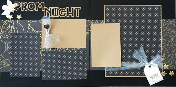 Prom Night , 2 Page Scrapbooking Layout Kit or Pre Made Scrapbooking Page