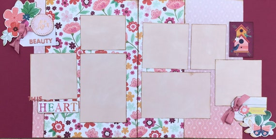 Be a Light - This Heart 2 Page Scrapbooking Layout Kit
