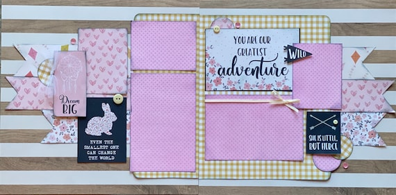 You Are Our Greatest Adventure - 2 page Scrapbooking Layout Kit or Pre Made Pages