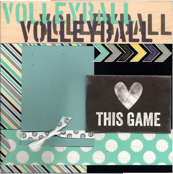 Love this Game  Volleyball 2 Page Scrapbooking Layout Kit