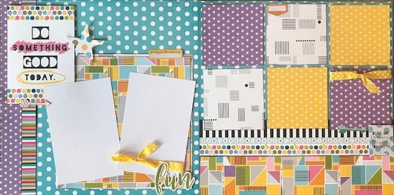 Do Something Good Today - By the Way, I'm Wearing the Smile you Gave Me 2 Page Scrapbooking Layout Kit