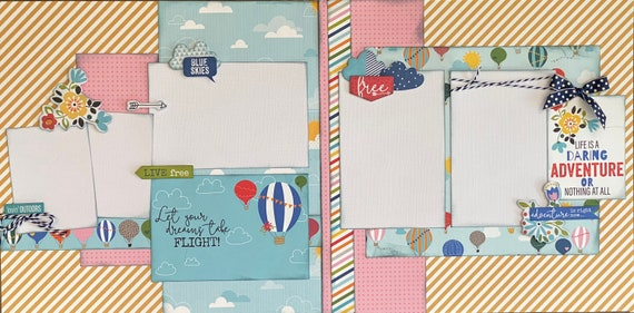 Let Your Dreams Take Flight 2 Page Scrapbooking layout Kit or Premade Scrapbooking Pages
