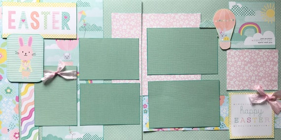 Easter - Just Another Perfect Day with You - 2 Page Scrapbooking Layout Kit or Premade Scrapbooking Pages
